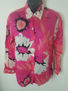 SIGRID OLSEN Extra Fine Cotton Blouse Shirt Pinks Size 12