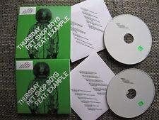 "Pet Shop Boys Feat. Example ""Thursday Remixes"" Part 1&2 (2xRARE PROMO Singles)"