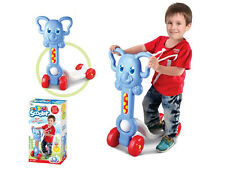 CHILDRENS KIDS BOYS BLUE ELEPHANT 'MY FIRST SCOOTER' RIDE ON TOY 1005