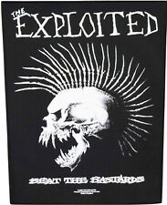 Xlg The Exploited Woven Sew On Back Patch - Beat The Bastard Battle Jacket Patch