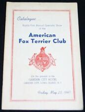 American Fox Terrier Dog Club Catalog Brochure May 1947 Vintage Dog Show