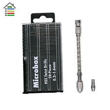 1p Pin Vise Mini Spiral Semi-automatic Hand Drill w/ 0.3-1.6mm Twist Drill Bit