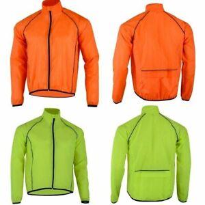 Mens Cycling Jacket High Visibility Waterproof Running Rain Coat Hi Viz