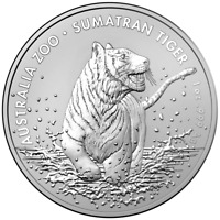 Silbermünze 999 SUMATRA TIGER Silver Coin 1 oz RAM Australien 2020 Le Grand Mint