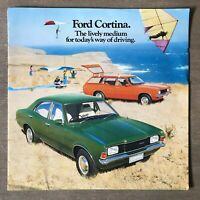 1976 Ford Cortina original Australian sales brochure (writing - 3/76)