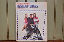 Vintage Purolator Instant Bonus Prize Catalog Advertising 1969