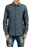 Versace Jeans Men's Striped Long Sleeve Casual Shirt US S IT 48