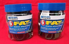 2 Jars of Highland 6 pc Fat Strap Bungee Cord Assortment  -Trailer- Cargo