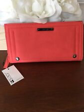 NWT JOE'S JEANS WALLET Naomi Style CORAL Color Vegan Leather - Cute for Summer