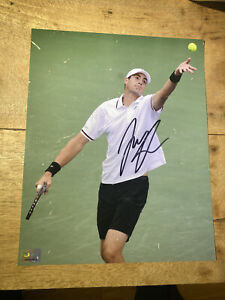 John Isner Tennis Superstar Signed Photo Autograph ATP imperfect PLEASE READ