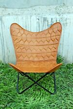 Retro Rustic Leather Butterfly Relax Arm Chair BKF Brown With Free Shipping