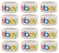 """12 PACK ROLLS 2"""" x 75 yards Classic Official eBay Shipping Packaging Tape"""
