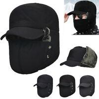 Men's Aviator Trapper Hat Winter Earflap Warm Russian Face Mask Ski Cap Outdoor