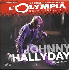 LIVRE + CD 12T JOHNNY HALLYDAY LES CONCERTS MYTHIQUES DE L'OLYMPIA JUILLET 2000