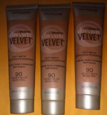 3 Maybelline Dream Velvet Soft Matte Hydrating Foundation HONEY BEIGE # 90 Trío