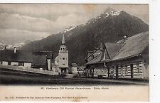 MT. VERSTOVAYA, OLD RUSSIAN WARE-HOUSE, SITKA: Alaska USA postcard (C5392)