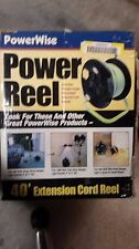 POWER WISE EXTENSION CORD REEL WIT.H 40' POWER CORD 14/3 WITH 4 GROUNDED OUTLETS