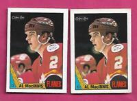 2 X 1987-88 OPC # 72 FLAMES AL MACINNIS  CARD (INV# C1754)