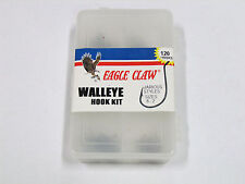 1 EAGLE CLAW 120pc WALLEYE OCTOPUS ASSORTED HOOK KIT (ECCLRA3) EB150203