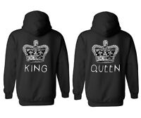 King Queen Couple Valentine Cool Men Women Unisex Top Hoodie Sweatshirt 1741-42