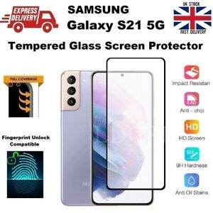 Full Screen Fingerprint Compatible Glass Screen Protector for Samsung S21 5G