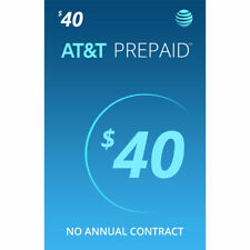 At&T Sim Card with $40 Prepaid Monthly Calling Plan having 1 Month Service