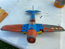 Hubley Kiddie Toy Airplane Lancaster Pa Made In Usa495 Fold Up Wings and tires