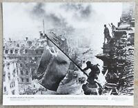 Vintage 11x14 Photograph Raising a Flag over the Reichstag Battle of Berlin 1945