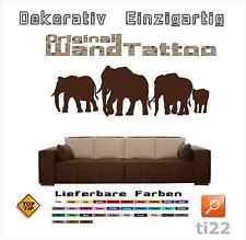 WandTattoo, ti22, Wandaufkleber Elefanten Elefantenherde Elefant Afrika Asien
