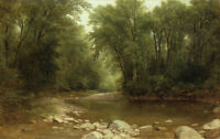 Stunning Oil painting Asher Brown Durand - Catskill Stream nice summer landscape
