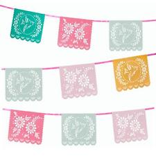 Summer Floral Bunting Garland  Large Flags Vintage Tea Party Wedding Decorations
