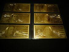 LOT OF 3 - 24 KARAT 999.9% GOLD  100 DOLLAR-USA MINT BILL- IN RIGID BILL HOLDER