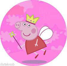 CIALDA per torta PEPPA PIG love fata ostia compleanno rosa