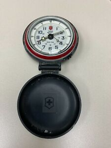Swiss Army Dual Time Travel Alarm Clock  Parts  #397