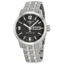Tissot Powermatic 80 Black Dial Stainless Steel Mens Watch T0554301105700
