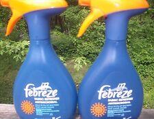 2 bottles Febreze Fabric Refresher ANTIMICROBIAL 27.0 oz each RARE kills 99.9%