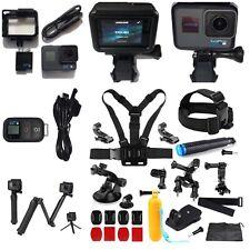 GoPro HERO6 Black Camera HD 4K CHDHX-601+Smart Remote+3-Way Arm+Sports Bundle!