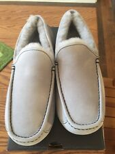 NIB UGG Men's ASCOT Mocassin Slippers Gray Size 10