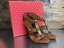 TORY BURCH CARLA SOFTLY SUEDE BEADED SANDALS SHOES SIZE 10.5