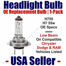 Headlight Bulb Low Beam OE Replacement 1pk For Select Dodge Chrysler Ram - H7 55