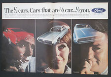 1967 Ford Mustang Cougar Thunderbird Three Model Original Vintage Print Ad