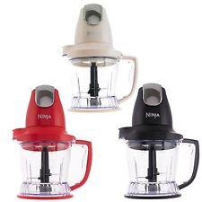 Ninja Kitchen Master Prep Food Chopper Blender 500W QB800UK - Black, Red & Cream