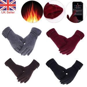 Women Ladies Winter Gloves Warm Fleece Anti-slip Thermal Touch Screen Gloves UK