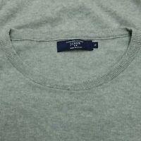 J.Crew Pullover Sweater - Crew Neck - Gray - Cotton W/Cashmere - XL
