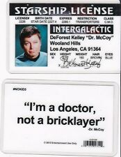 Star Trek Doctor Dr McCoy DeForrest Kelley Kelly Drivers License fake id card