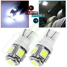2x Ultra Bright White 5-5050-SMD LED T10 168 194 License Plate Light Bulbs Lamp