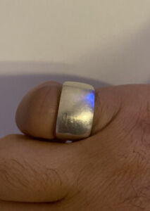 Smooth 925 sterling silver mens rings