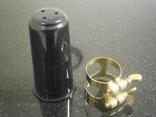 Soprano Saxophone Gold Lacquered Ligature and Cap