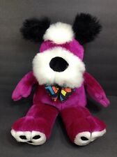 "Play By Play Ace Acme Purple Terrier Puppy Dog Plush Bow Tie 14"" Stuffed Animal"