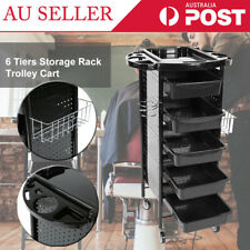 Storage Rack Trolley Cart With Wheels for Hair Salon Beauty Salons 6 Tiers